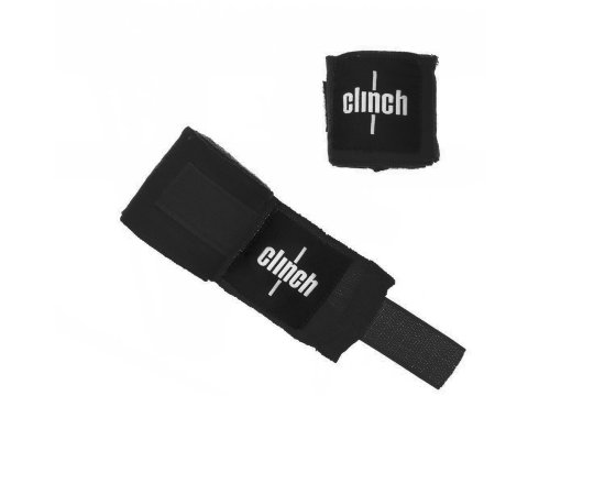 Бинты эластичные CLINCH BOXING CREPE BANDAGE PUNCH Black