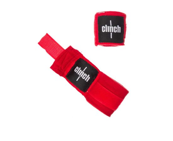Бинты эластичные CLINCH BOXING CREPE BANDAGE PUNCH RED