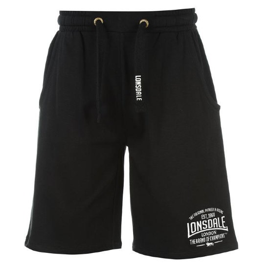 Шорты Lonsdale Box Lightweight Shorts Mens Black