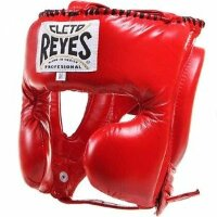 Боксерский шлем Cleto Reyes Cheek Protection Red