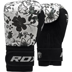 Перчатки боксерские RDX FL3 FLORAL BOXING GLOVES Black/white