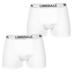 Трусы LONSDALE 2 Pack Boxers Mens White