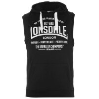 Майка с капюшоном Lonsdale Box Sleeveless Hoody Mens