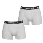 Трусы LONSDALE 2 Pack Boxers Mens Grey